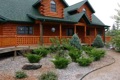 La maison en bois est performante