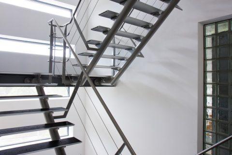 L'escalier en métal